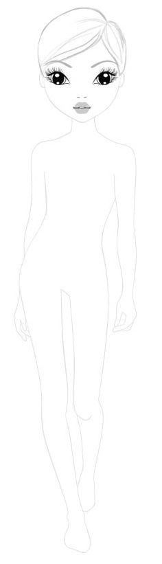 Topmodel Malvorlagen Zum Ausdrucken Topmodel Malvorlagen Kostenlos Ausdrucken Top Model Malen Doll Drawing Coloring Books Drawing Templates