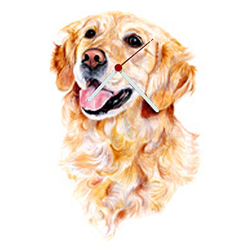 Golden Retriever Head Shaped Clock Dogs Golden Retriever Head