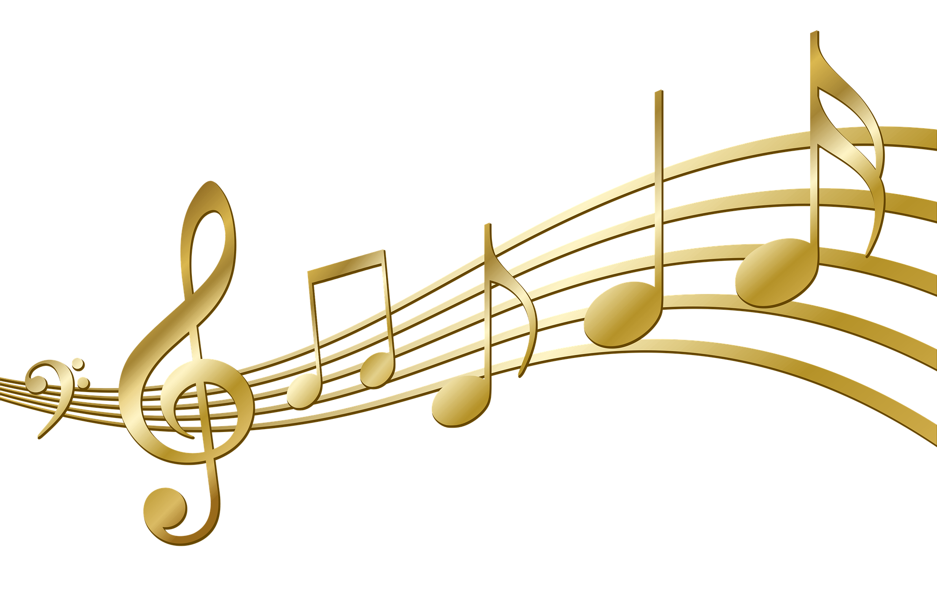 Gold Musical Notes Typography 2 By Gdj Music Wallpaper Art Music Music Pictures