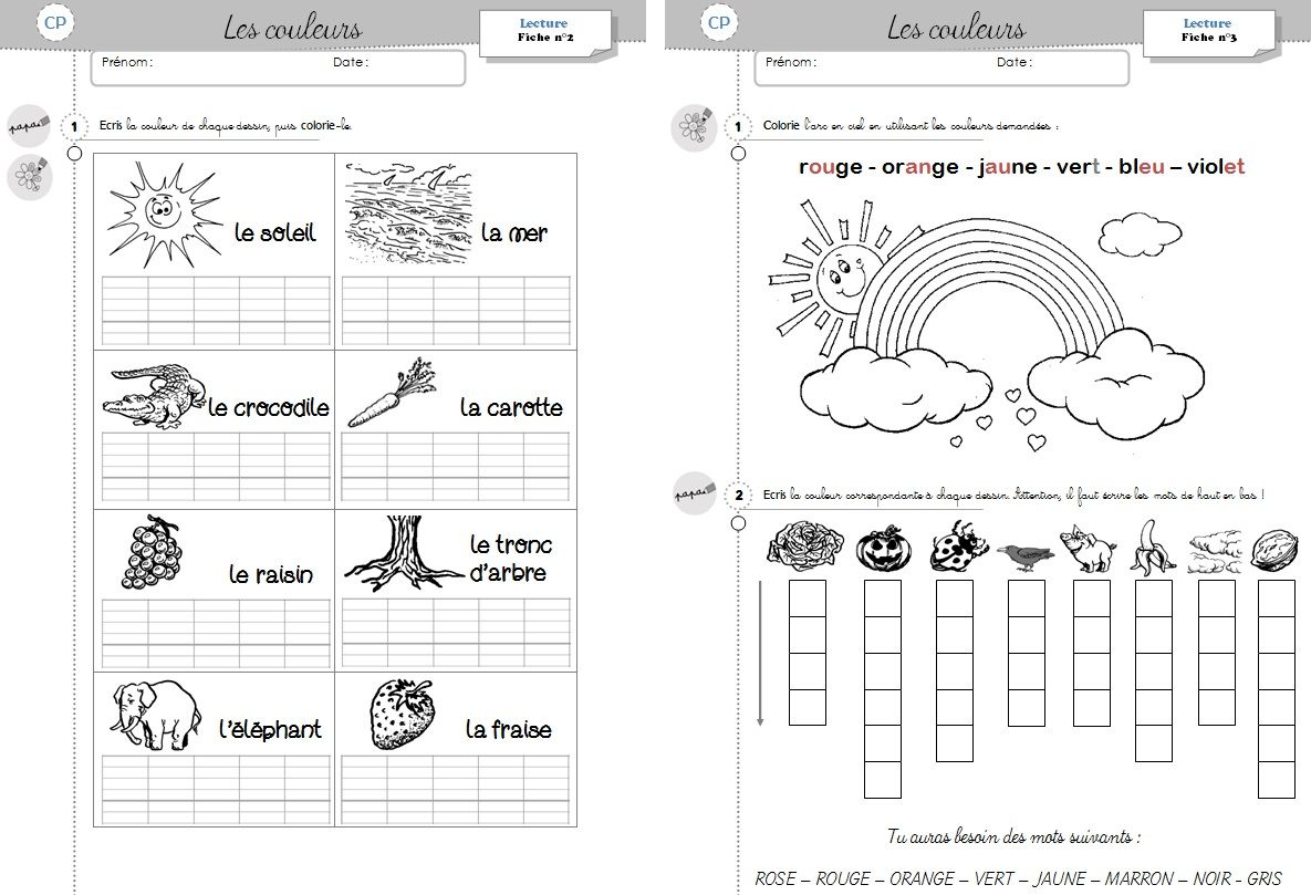 Fiche d'exercice lecture cp | coloriage | Pinterest
