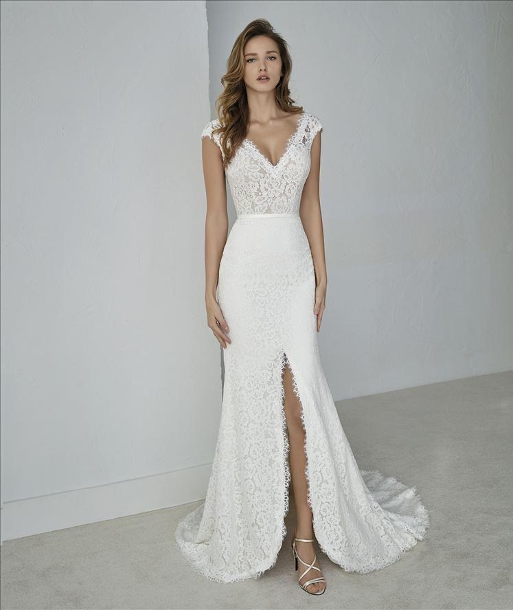 Trouwjurk Met Split Van Pronovias Wedding Dress