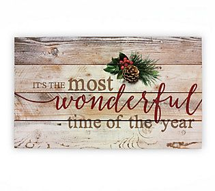Wonderful Time Of The Year - Wall Art — QVC.com