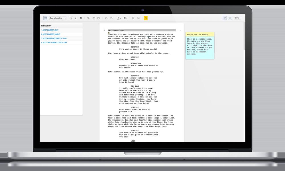Celtx: free online scriptwriting software   Scriptwriting
