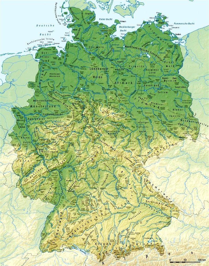topographische karte deutschland bundesländer Deutschland Karte4 | Landkarte deutschland, Deutschlandkarte