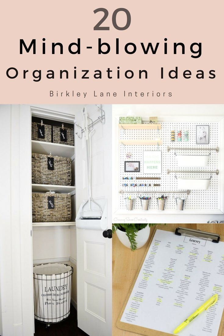 20 Mind-Blowing Organization Ideas for Your Home | Pinterest ...