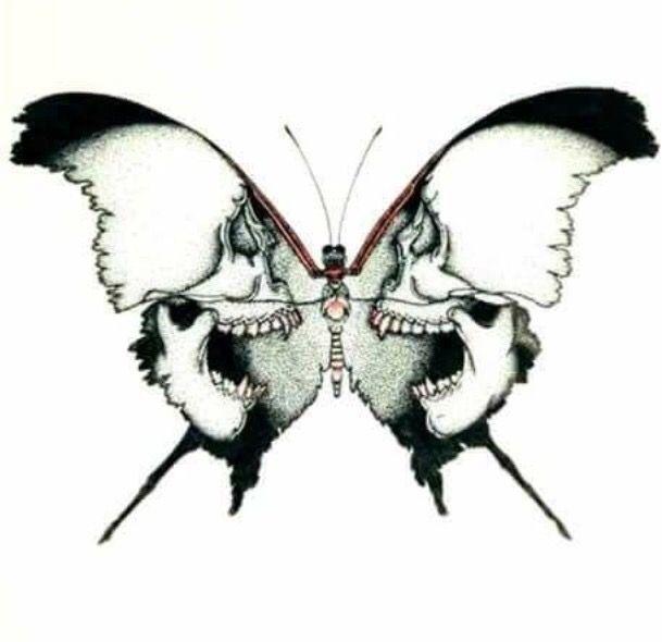 Mariposa Tatuajes Rosas Y Calaveras Craneos Y Calaveras Tatuajes Extranos