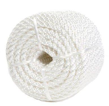 Koch 5210836 Twisted Nylon Rope, 1/4 by 100 Feet, White