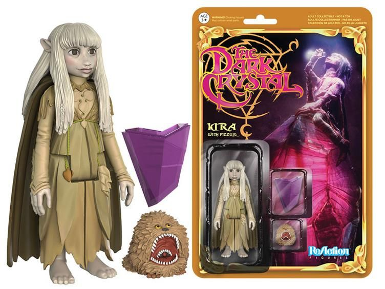 "The Dark Crystal 3.75"" ReAction Retro Action Figure - Kira & Fizzgig - The Dark Crystal Figures"