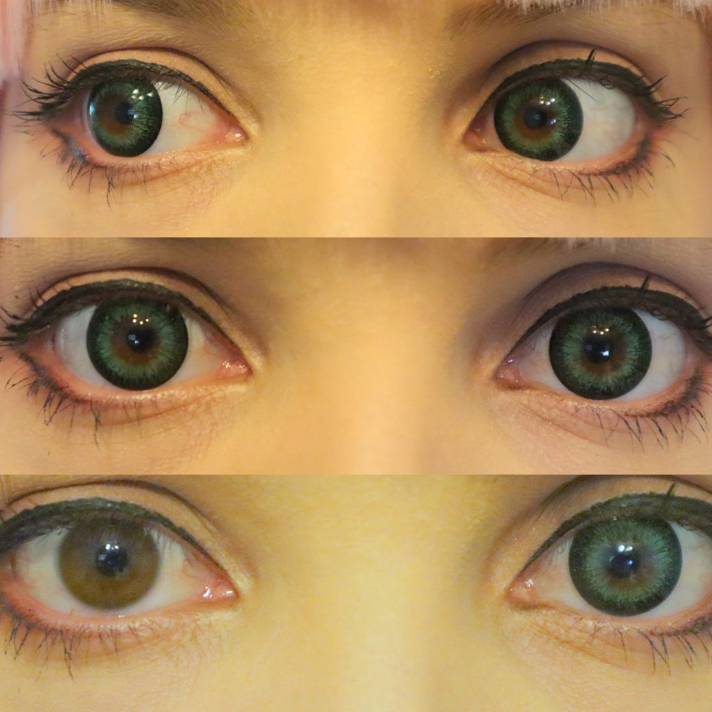Lens Review G G Big Dm23 Green From Pinky Paradise Shiro Ychigo Green Contacts Lenses Circle Lenses Green Contacts