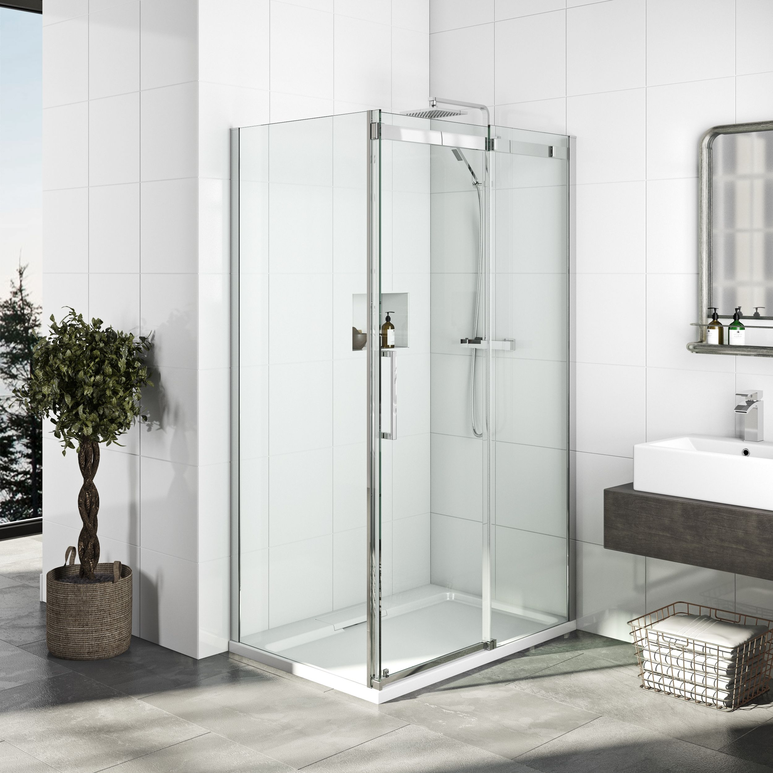 Mode Elite 10mm Frameless Shower Enclosure In 2020 Frameless Shower Enclosures Shower Enclosure Quadrant Shower