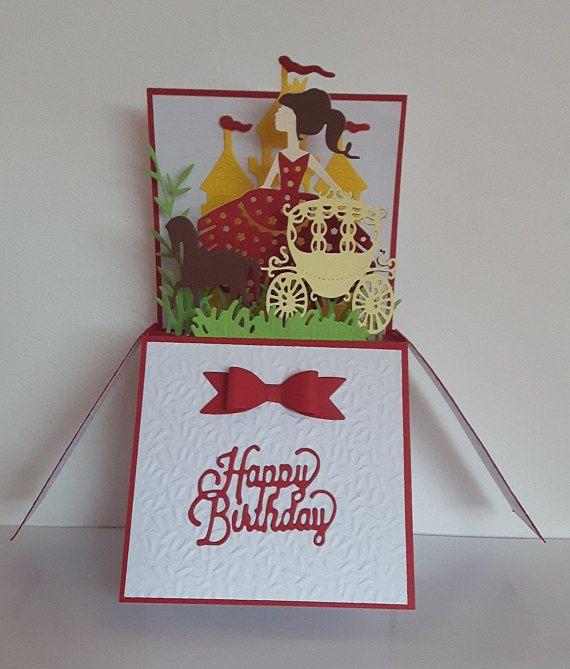 Original Birthday Card For A Little Princess 100 Handmade Box