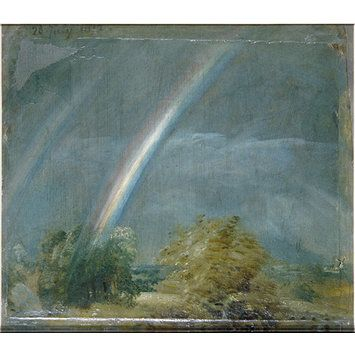 Landscape with a Double Rainbow, John Constable (RA),  V Search the Collections - www.vam.ac.uk