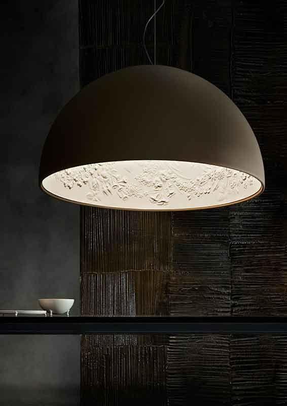 koepel 90 cm diameter ook leverbaar in 60 cm diameter kleuren wit brons zwart goud koek verlichting