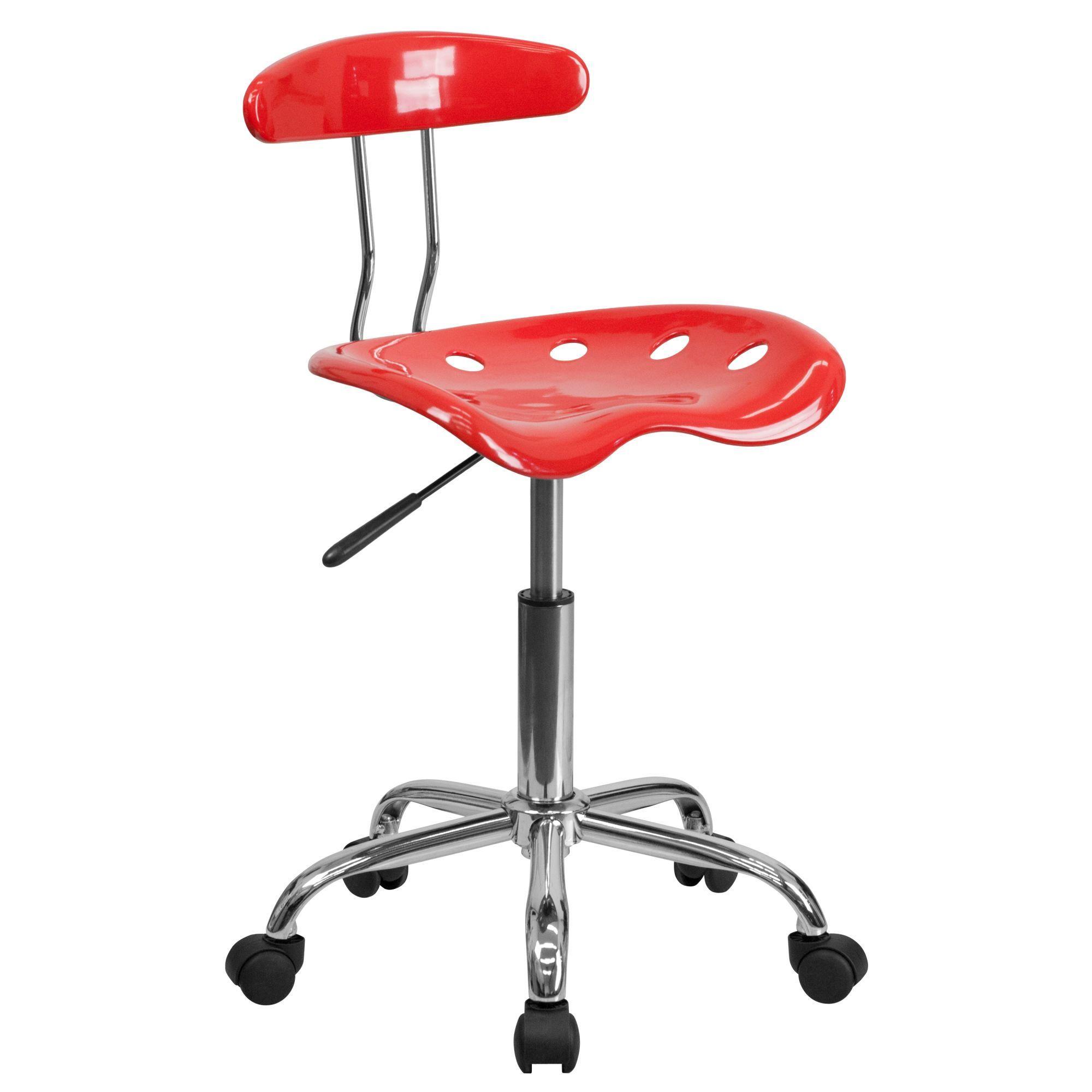 Adjustable Swivel Task Chair – Cherry Tomato