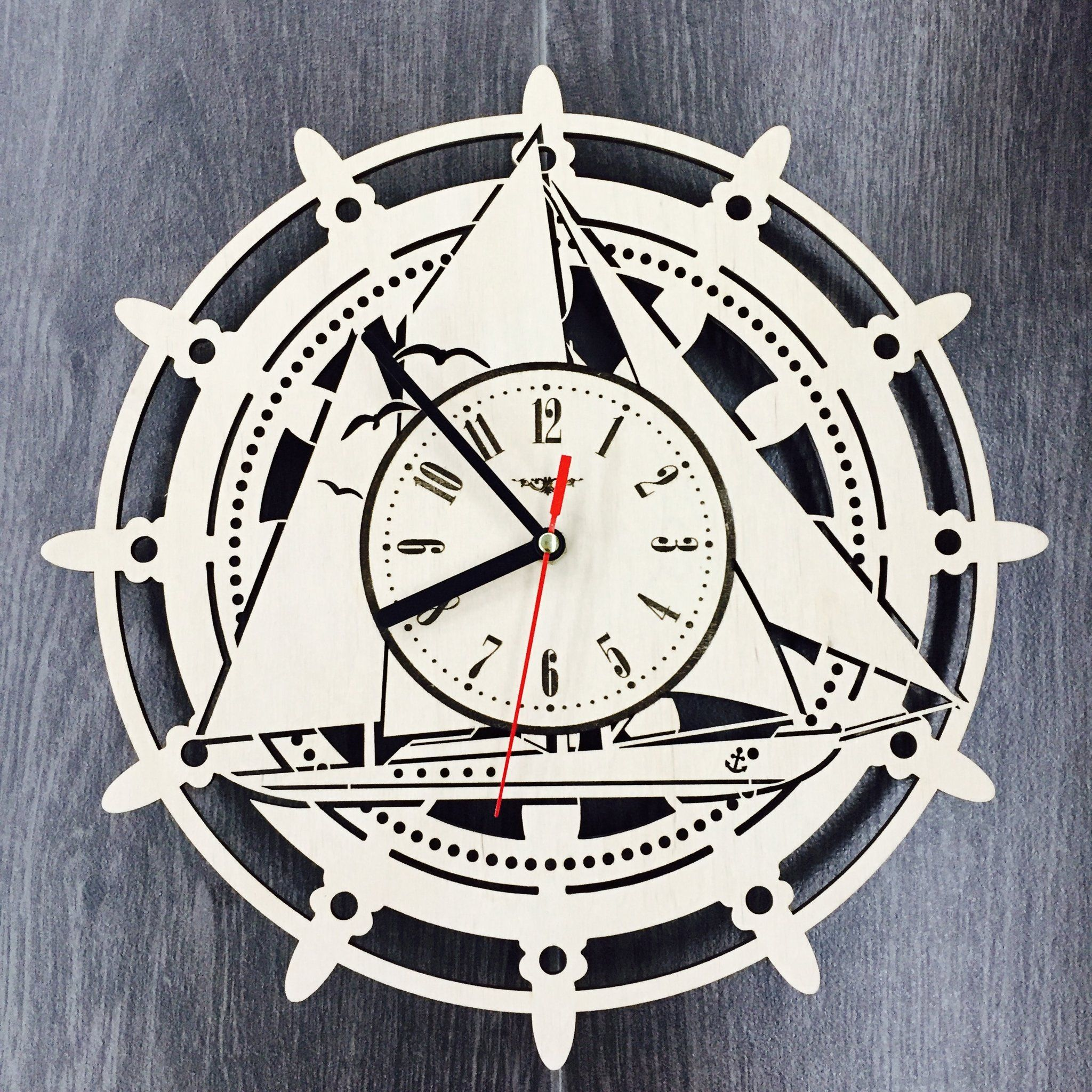 Steering Wheel Wall Wood Clock 31 99 Size 12 In 30 Cm Really Cool Gift And Unique Home Decoration Can Be Pers Clock Wall Decor Unique Wall Clocks Clock