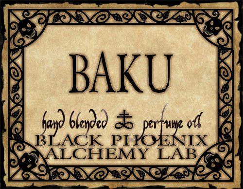 Baku Perfume Oil Perfume Oils Perfume Halloween Labels