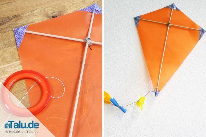 Drachen selber bauen – DIY-Bastelanleitung