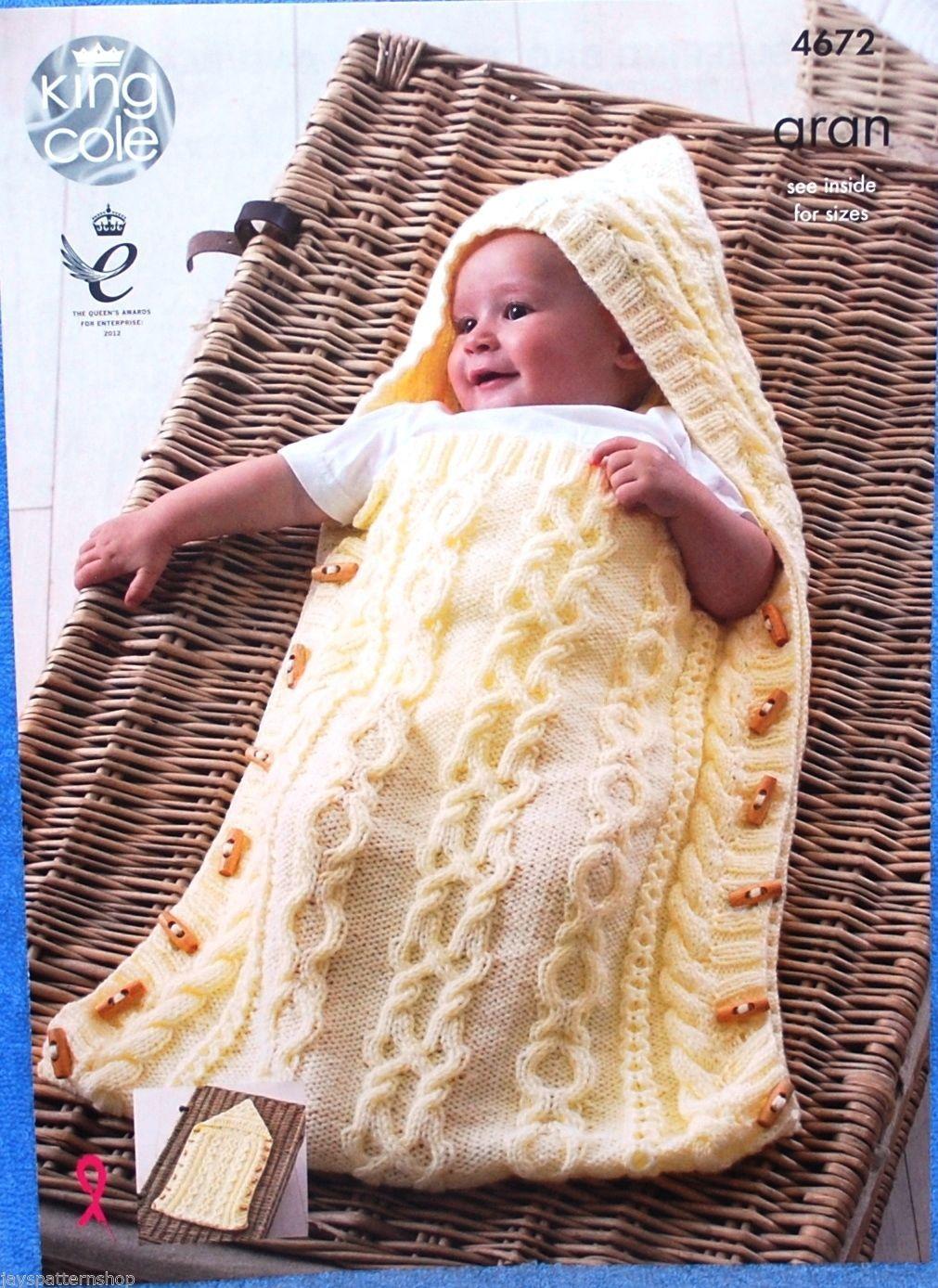 Babies childs aran knit sleeping bag cushion blanket knitting baby sleeping bag snuggler blanket aran knitting pattern king cole 4672 bankloansurffo Choice Image