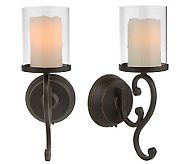 Candle Impressions For The Home Qvc Com Candle Wall Sconces Battery Operated Wall Sconce Wall Candles