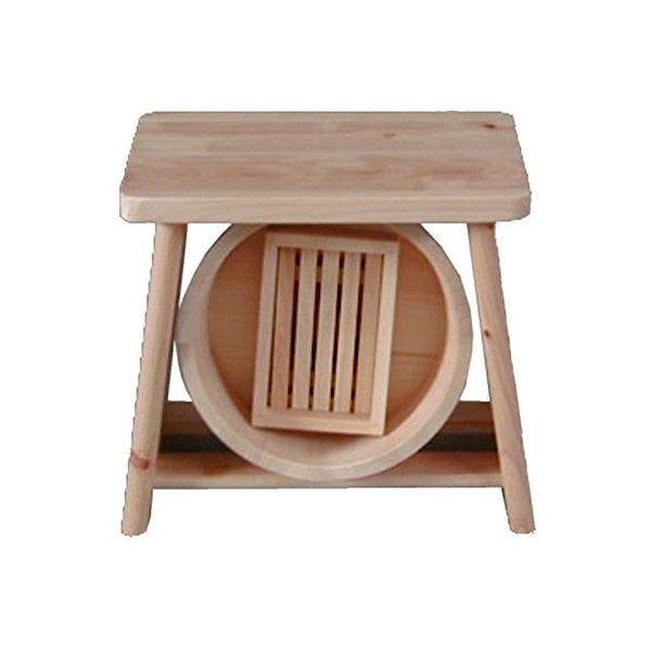 Awe Inspiring Details About New Japanese Bath Wooden Stool Chair Oke Set Theyellowbook Wood Chair Design Ideas Theyellowbookinfo
