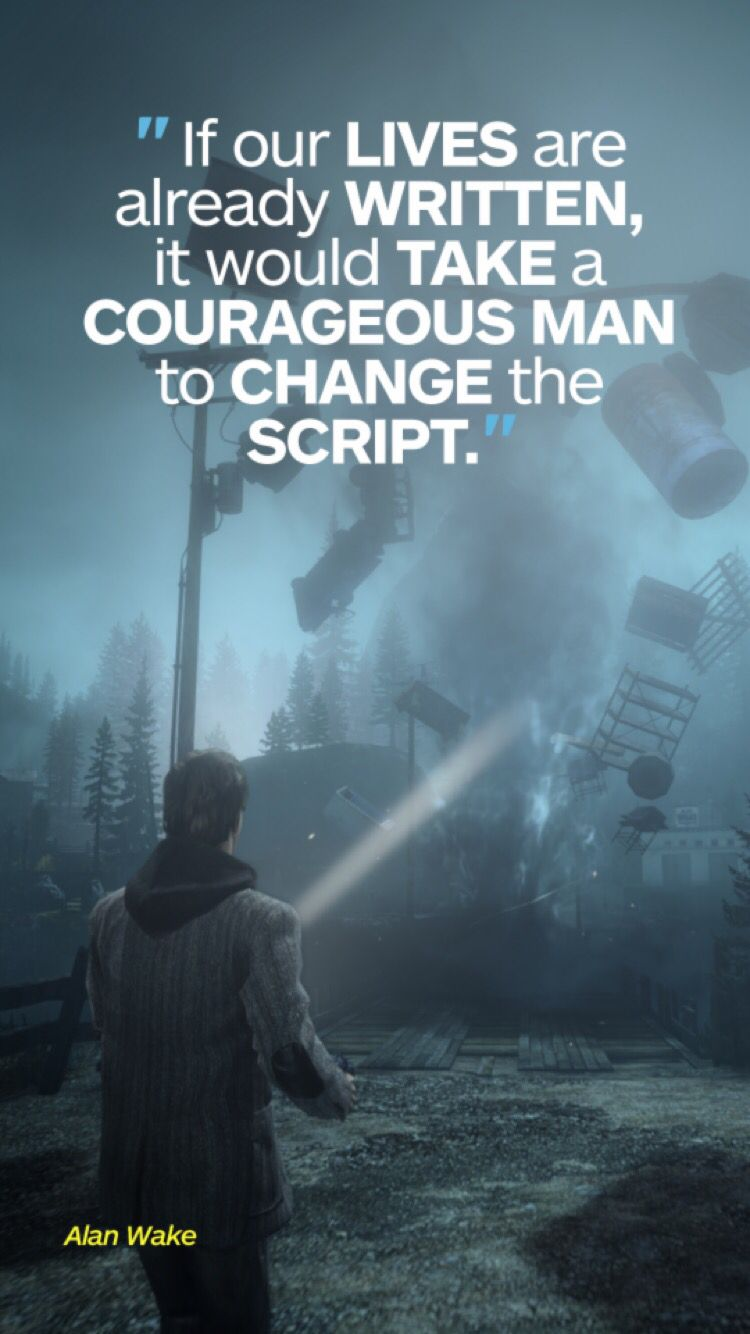 Alan Wake Video Game Quotes Game Quotes Horror Video Games