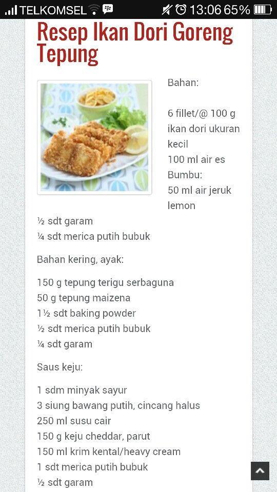 Ikan Dori Goreng Tepung Resep Ikan Makanan Laut Makanan