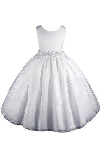 f78cc7021  29.99 Amazon.com  AMJ Dresses Inc Girls White Flower Girl Communion ...