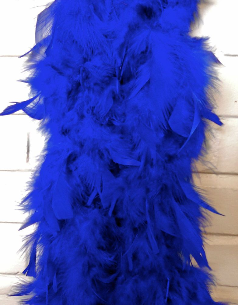 Details About Royal Blue Feather Boas Chandelle Feathers 6 Feet 60 Grams Best Price On Vintage Fashion Multiple Color Blue Feather