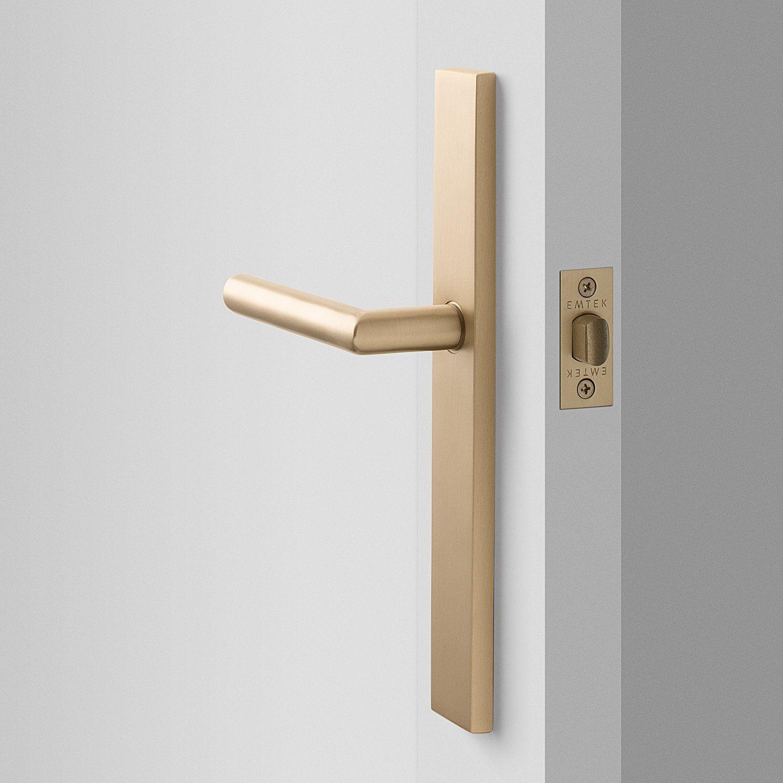 Rome Tall Door Set With Otto Lever Satin Brass In 2020 Door Handles Interior Door Hardware Interior Door Handles Modern