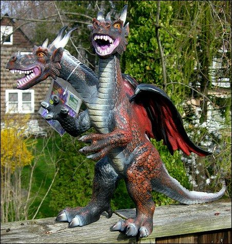 Giant Foam Dragon – $19.99: Twenty bucks for this guy didn't seem like a  bad deal, but now that I've done the math, I can confirm that he cost two  thousand ...