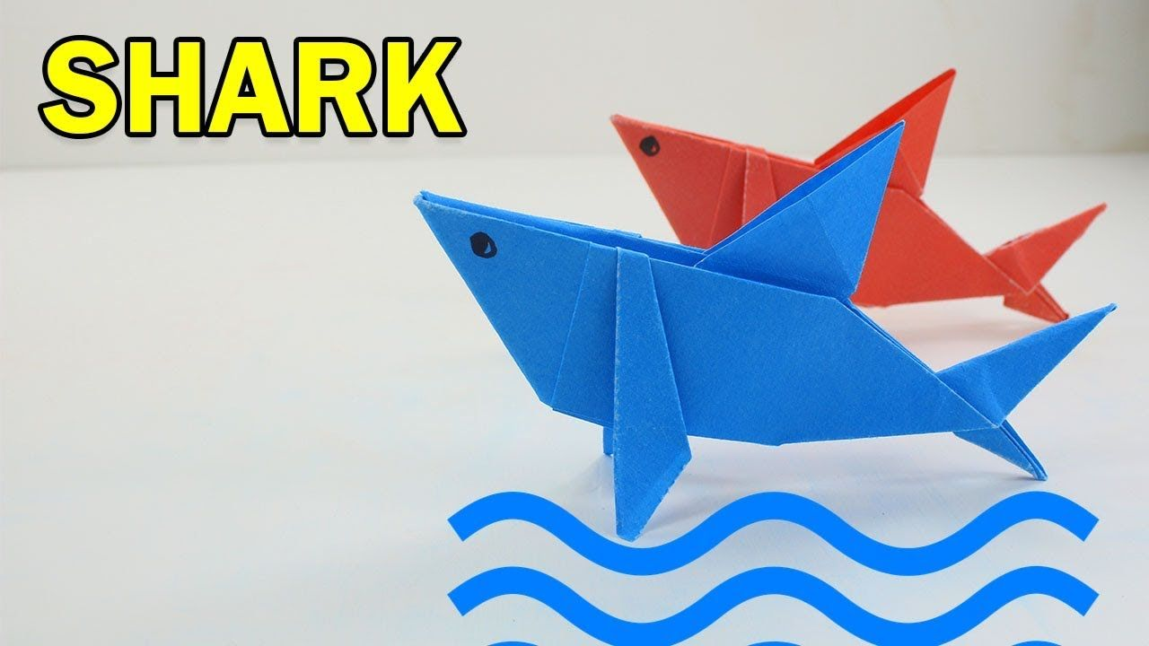 Cool Paper Shark For Kids Origami Instructions Diagram