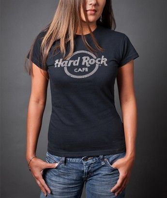 hard rock cafe rhinestud logo t shirt in black as seen on. Black Bedroom Furniture Sets. Home Design Ideas