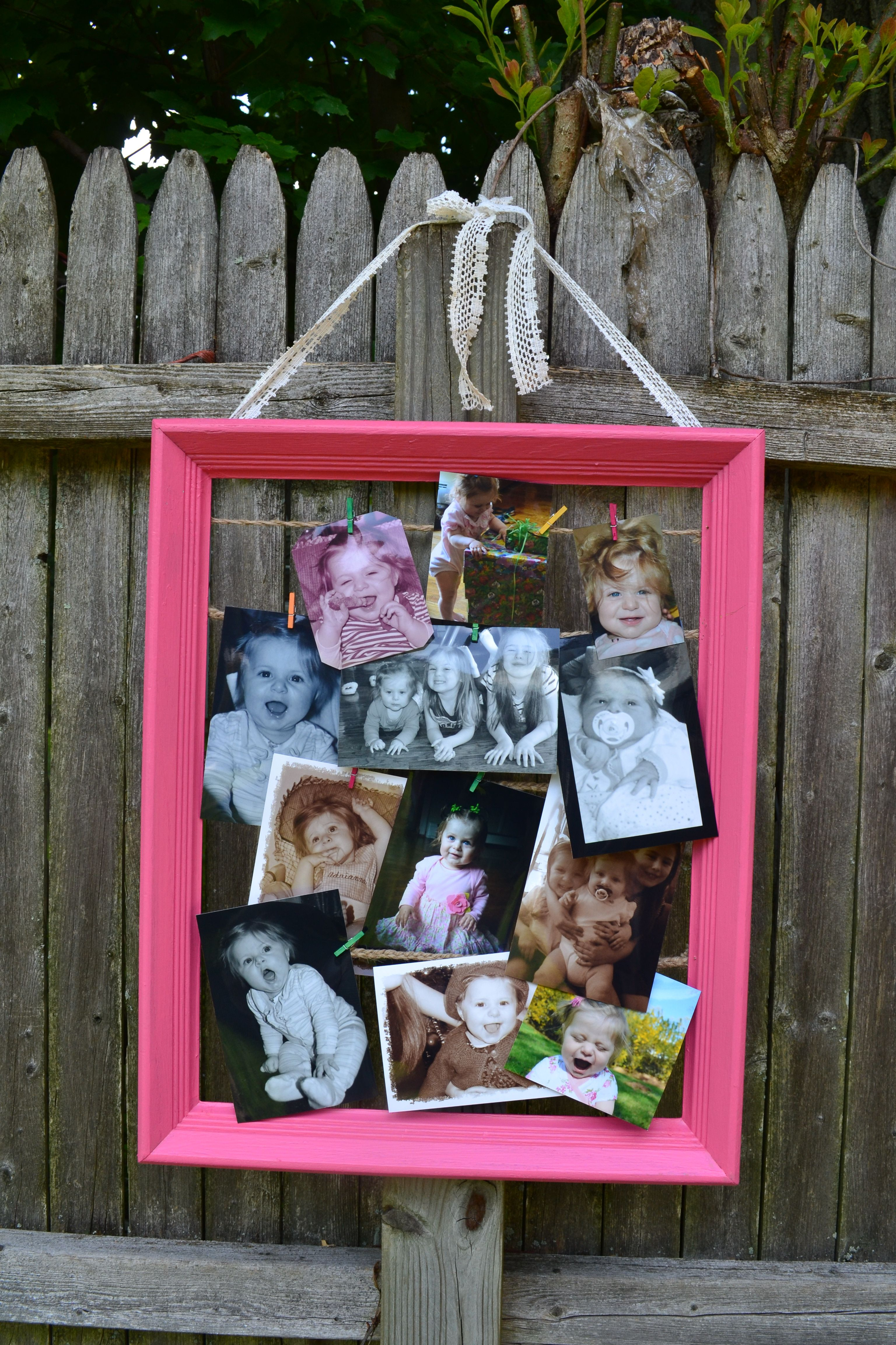 Pictures and notes frame holder. - for hallways