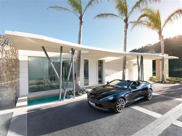 Maison contemporaine de luxe qui change de couleur Maisons - entree de maison contemporaine