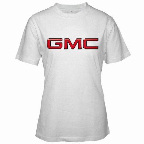 Gmc Automotive Logo T Shirt Women Short Sleeve Tshirt White Xs