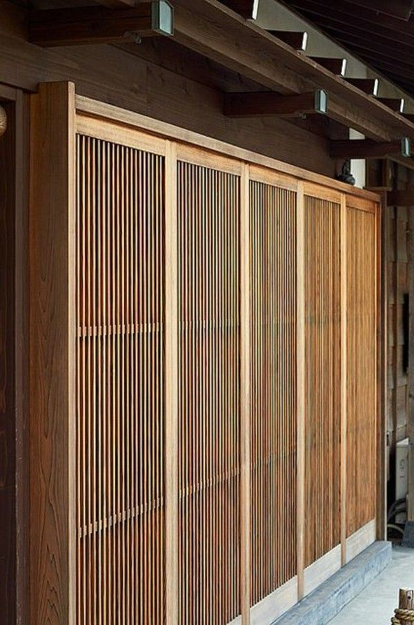 Japanese Sliding Doors Made Of Wood Med Bilder Japansk