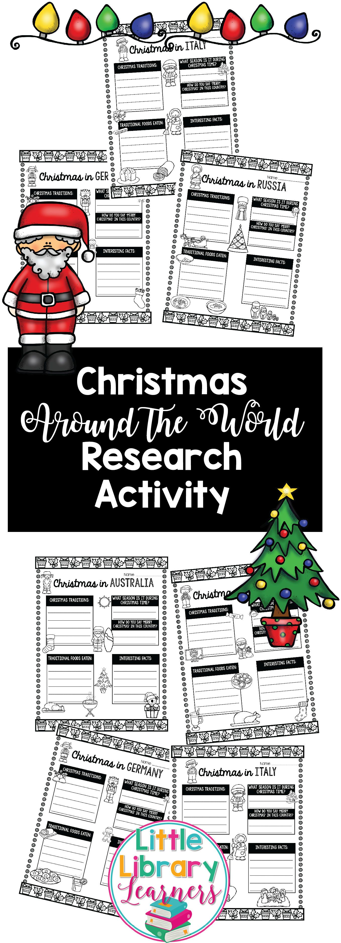 Library Research Activity Christmas Around The World