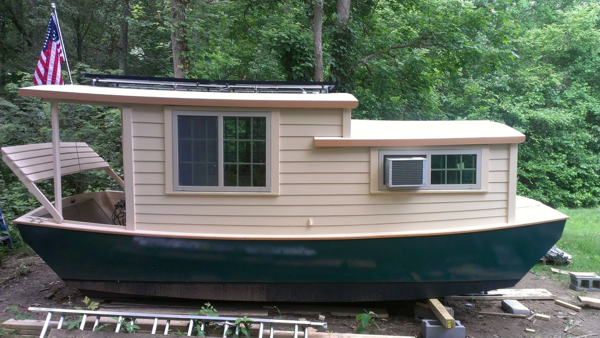 Cute One Shanty Boat House Boat Wooden Boat Plans