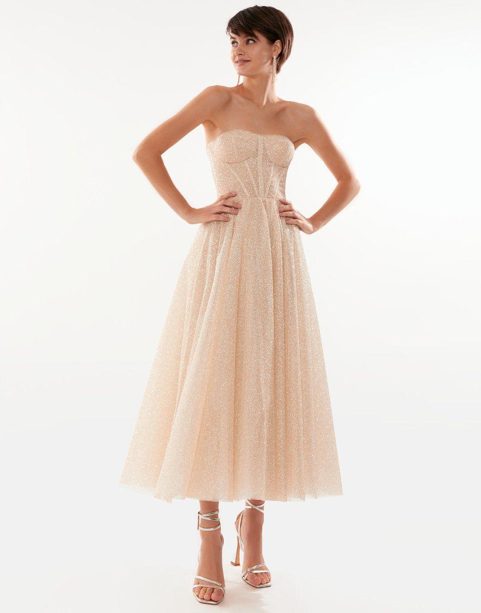 Cocktail Dresses Tulle Skirt Champagne Dresses Strapless Party Dress Dresses Party Dress [ 1200 x 943 Pixel ]