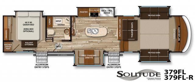5th wheel floor plans with rear kitchen 2017 grand - Grand design solitude floor plans ...