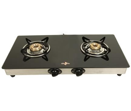 Chef Pro Classic Cgs702 Glass 2 Burner Gas Stove Gas Stove Stove Burners