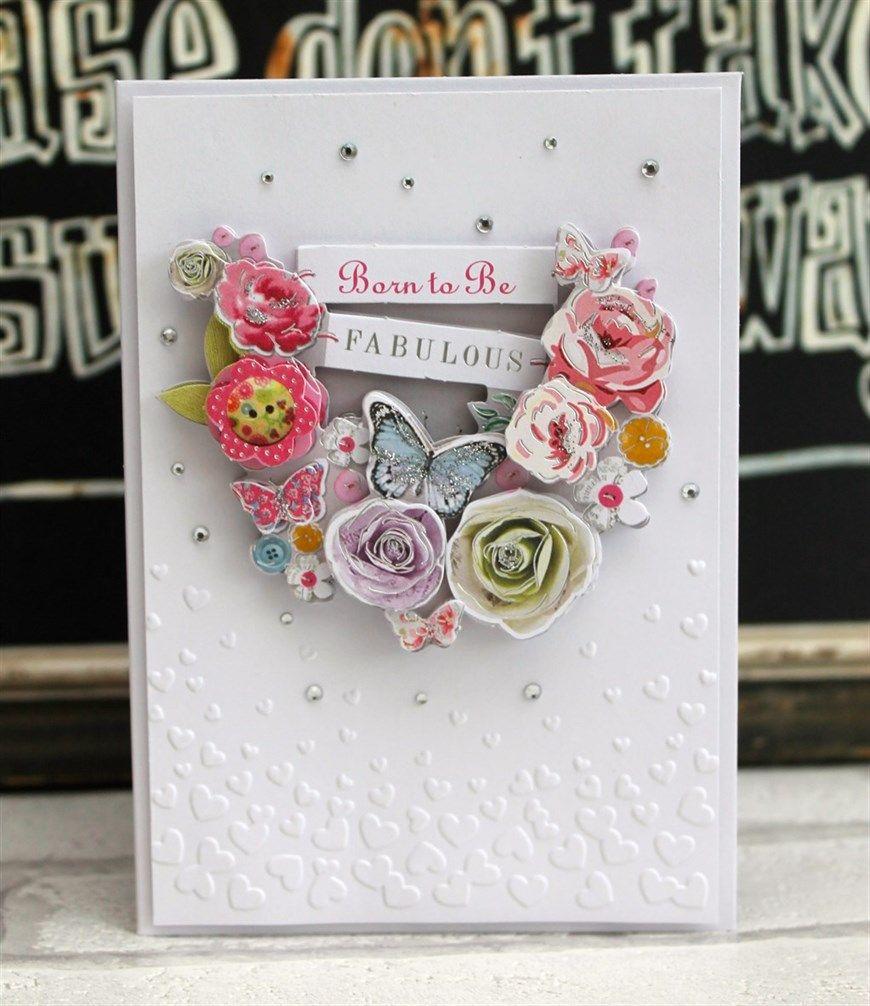Embossed Bellissima Card - Create & Craft 2/1/15