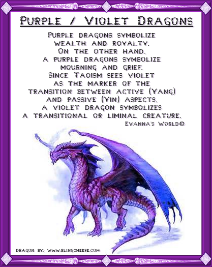 Ah My Purple Dragon U See I Like Dragons And To Me They Are