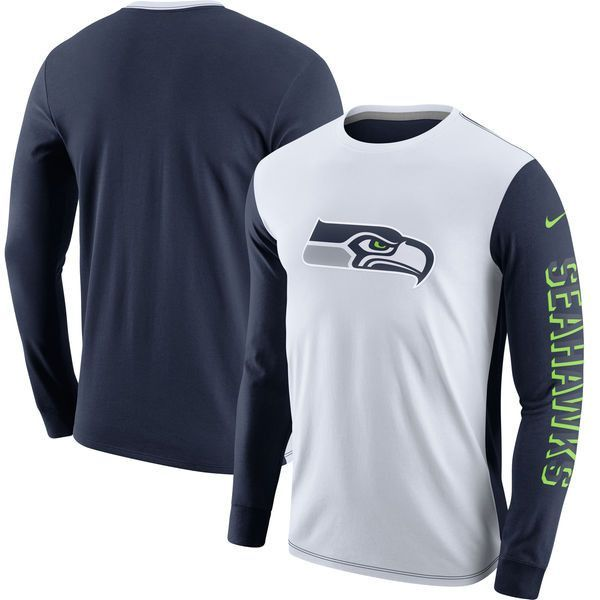 newest fe635 12496 Men's Seattle Seahawks Nike Champ Drive Long Sleeve ...