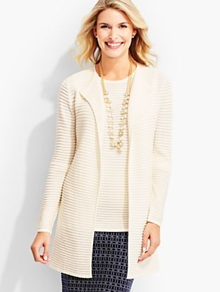 Talbots - Ottoman No-Close Long Cardigan |  |  Discover your new look at Talbots. Shop our Ottoman No-Close Long Cardigan for stylish clothing and accessories with a modern twist at Talbots
