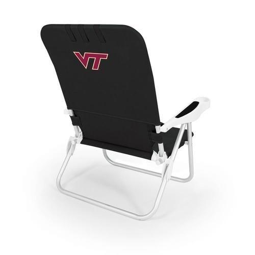 Virginia Tech Vt Hokies Reclining Portable Beach Chair