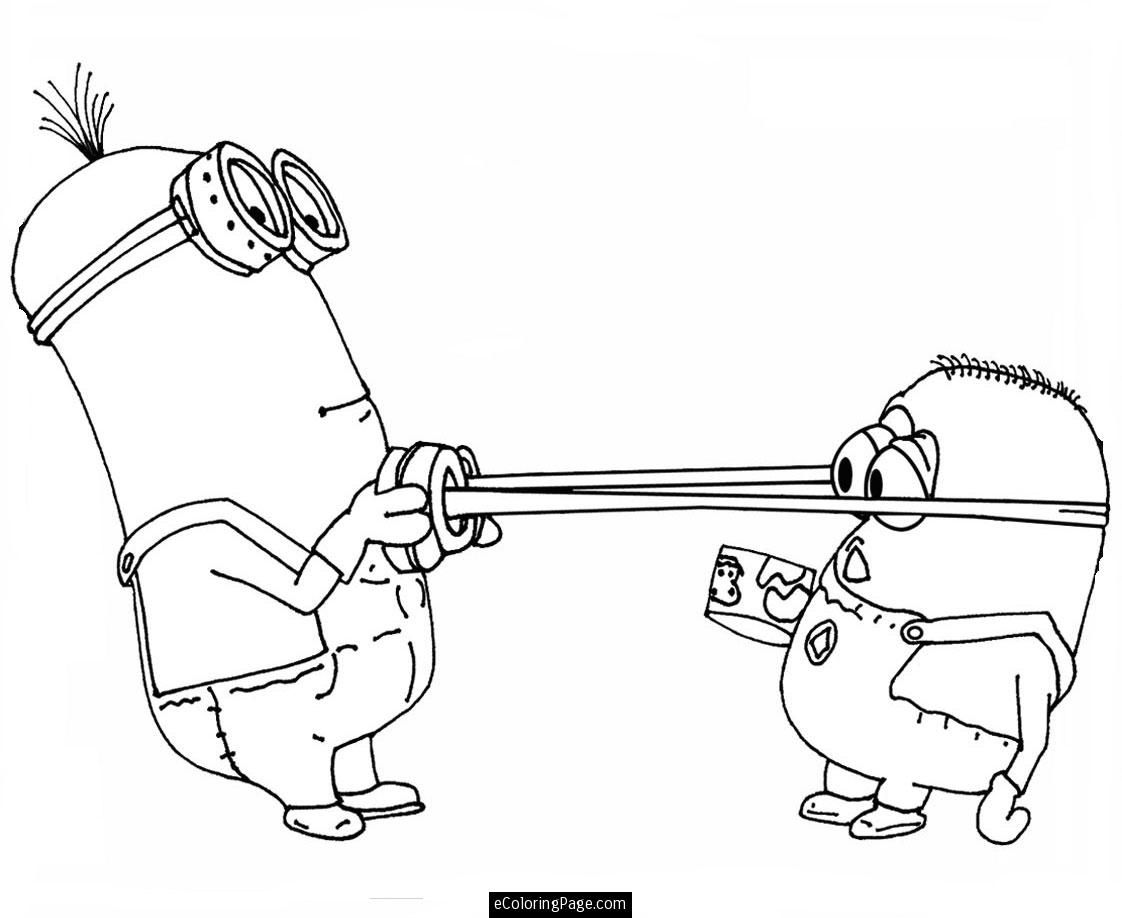 despicable me 2 minions playing coloring pages for - Coloring Pages Characters 2