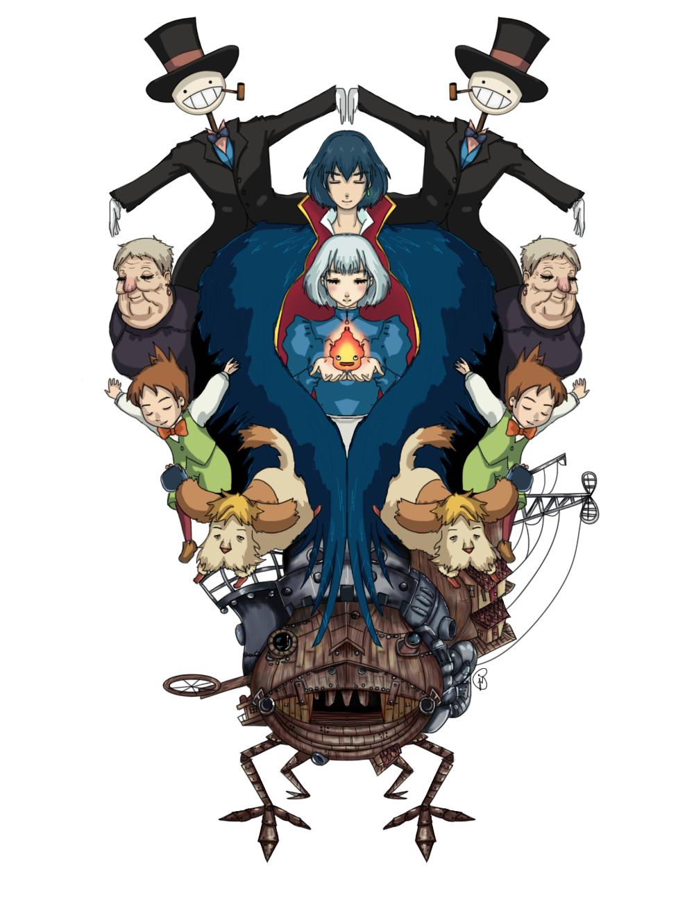 Howl S Moving Castle Howls Moving Castle Howl S Moving Castle Studio Ghibli Art