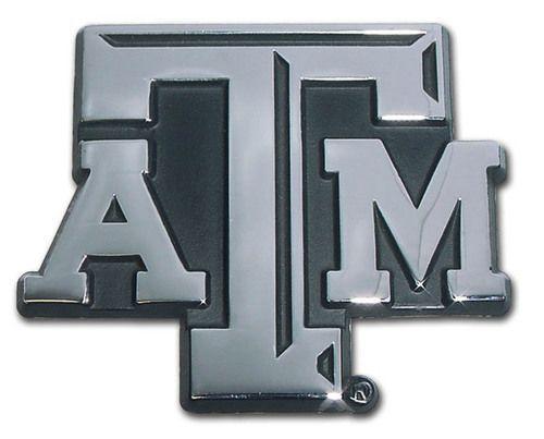 Texas A&M University ATM Chrome Car Emblem | Chrome and Texas