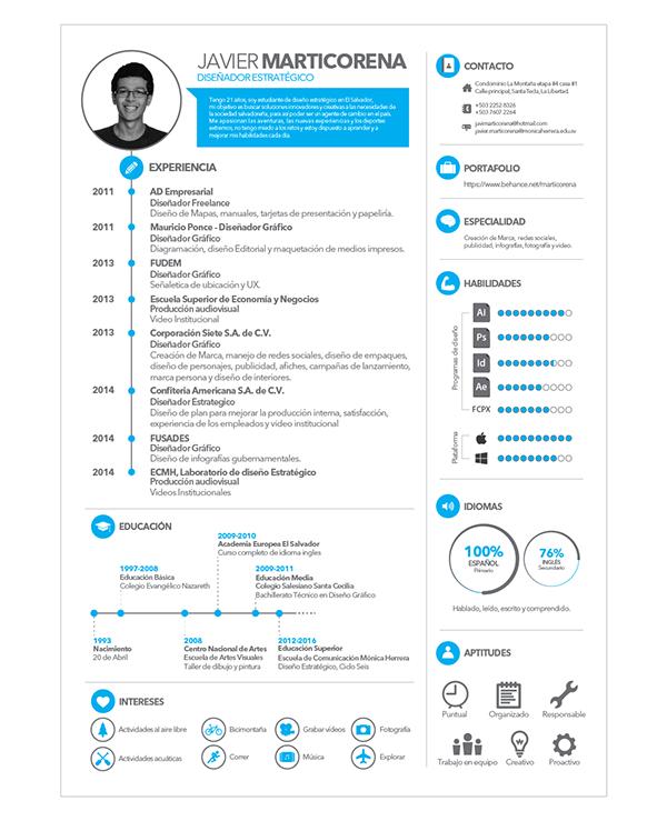 Curriculum Vitae On Behance Personal Resume Resume Design Creative Curriculum Vitae
